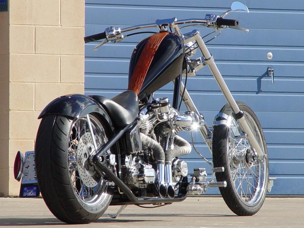 custom motorcycle with salvage parts