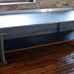 Large Metal Top Work Table W Vise Salvage One