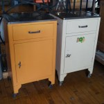 Vintage Metal Rolling Medical Cabinet Salvage One