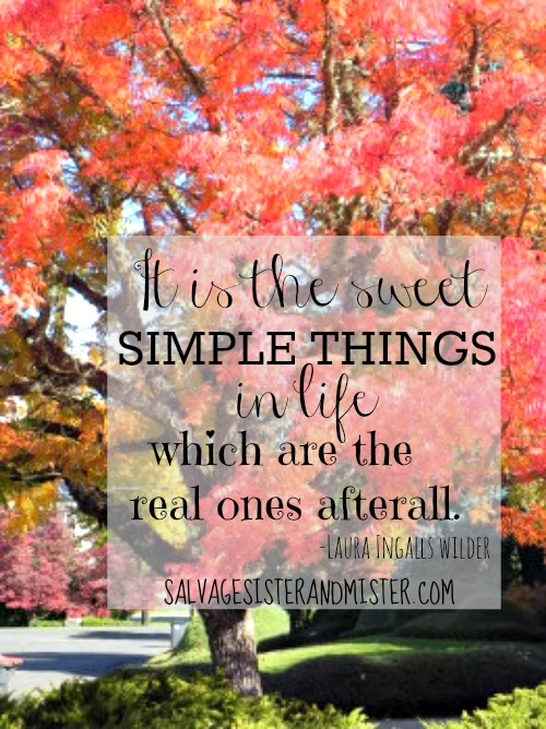 """""""It is the sweet simple things in life which are the real ones afterall."""" Laura Ingalls Wilder quote. Living the siple life and enjoying what is around you."""