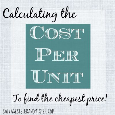 cost per unit graphic