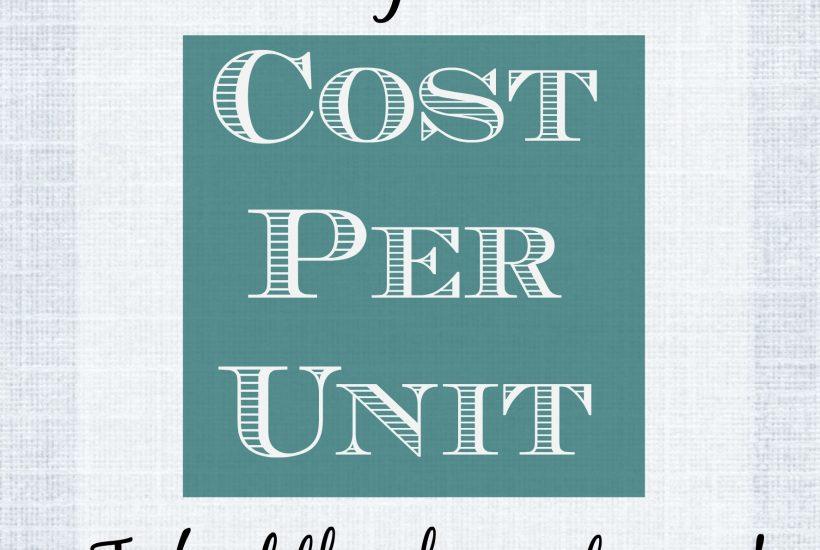 cost per unit graphic