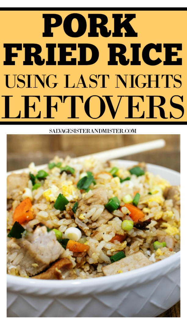 Turn last nights leftovers into a brand new meal with this quick and easy recipe. Use what you have on hand. This quick and simple meal comes together in no time and is a great way to use up ingredients in your fridge. Get the full recipe on salvagesisterandmister.com where we want to help you waste not, want not
