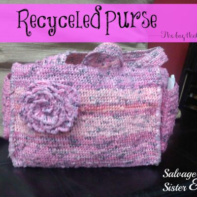 recycled purse from plastic bags