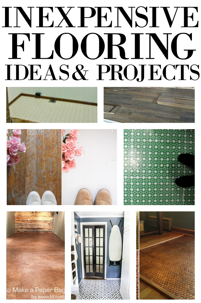 Remodeling a home gets expensive very quickly.  Here are a few DIY projects and ideas to get you a new floor in no time and for very little money.  Gets these ideas on salvagesisterandmister.com