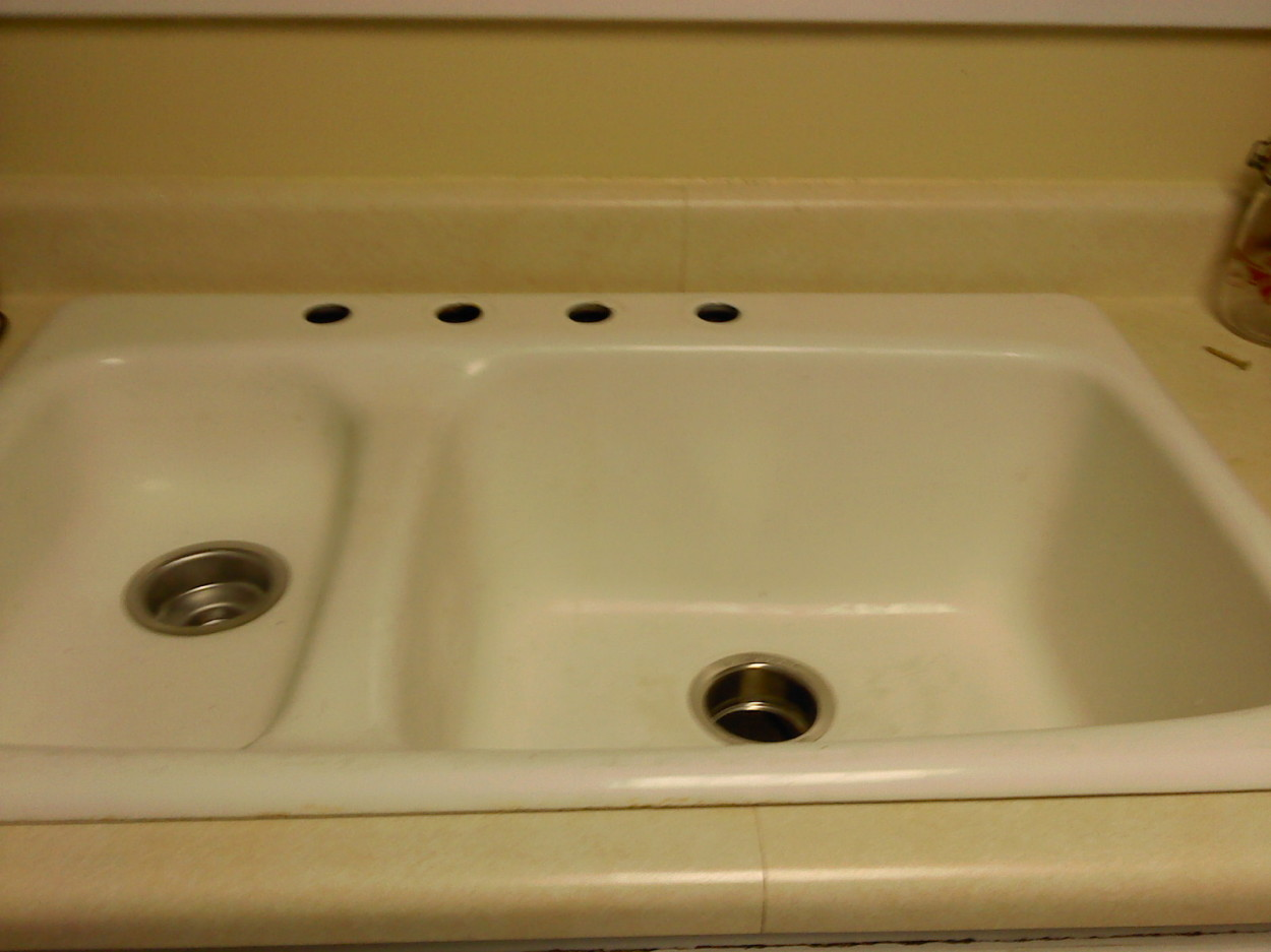 sink without faucet