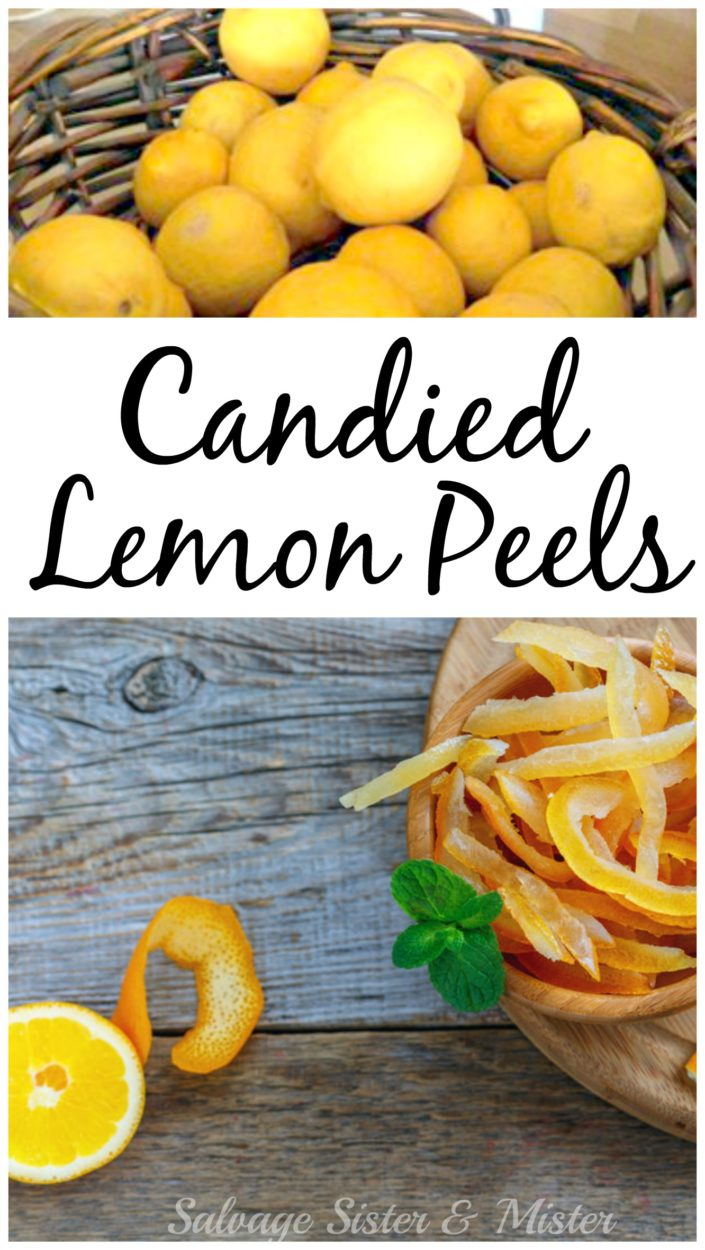 When life gives you lemons make candied lemon peels. Waste not, want not. This is a great way to use an item that normally gets thrown away. It turns into a sweet and tart candy that everyone will love. Recipe on the blog.