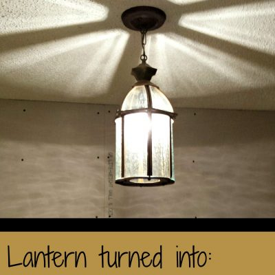 lantern turned light fixture