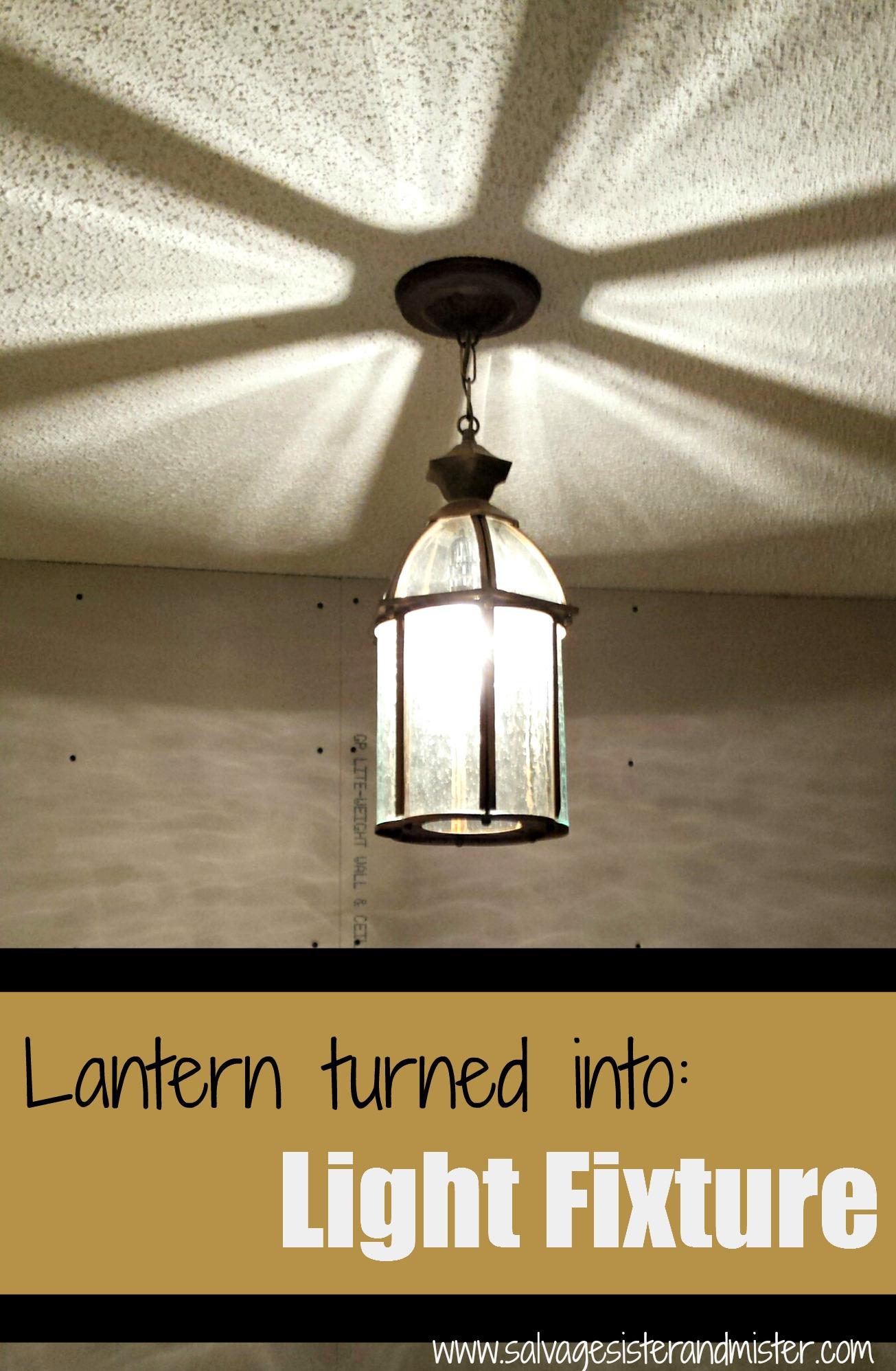 lantern with light on 1