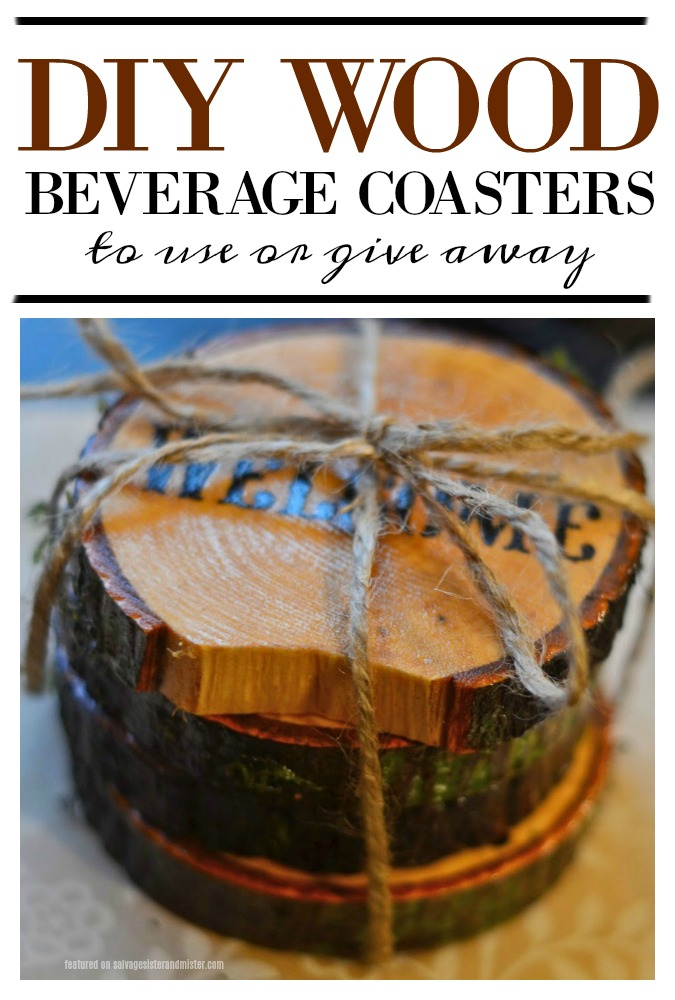 Turn that fallen tree branch into something useful (waste not, want not) - DIY wood beverage coasters is a great way to repurpose something that would other wise get discarded.  These make a great gift or to use in your own home.  Salvage what you have to create new things.  Find this craft tutorial on salvagesisterandmister.com