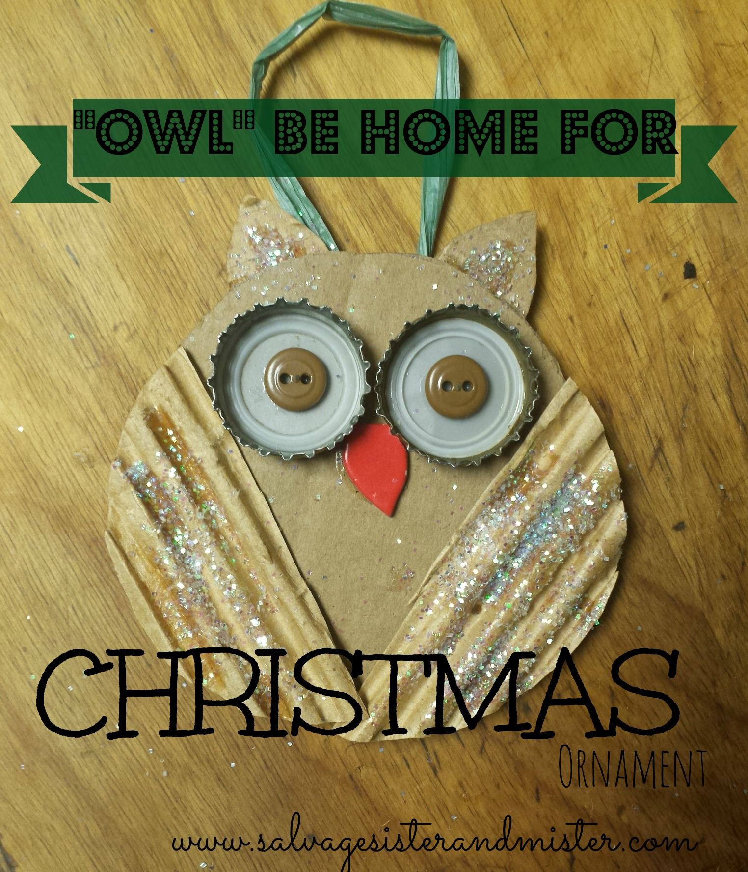 owl be home for christmas ornament