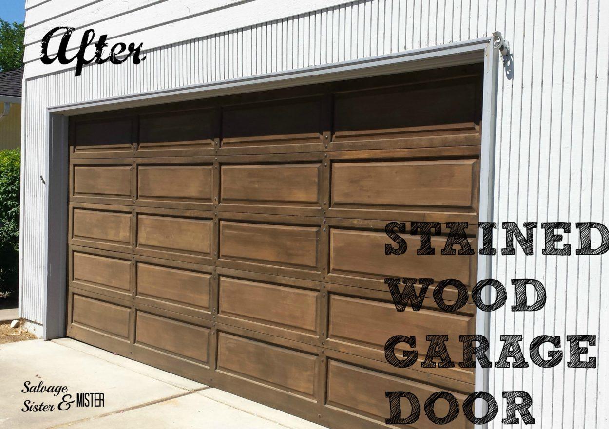 finished garage door AFTER