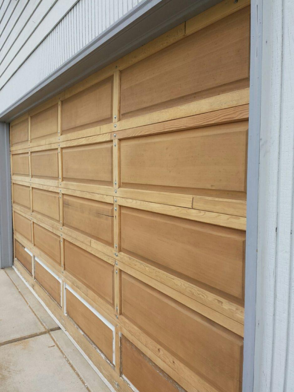 garage door paint removed