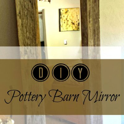 Pottery Barn inspired salvaged mirror. Using reclaimed lumber we made this floor mirror. DIY project with full instructions. www.salvagesisterandmister.com