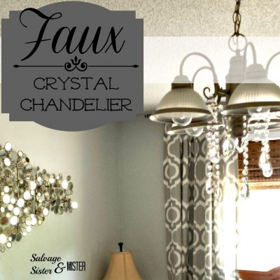 faux crystal chandelier