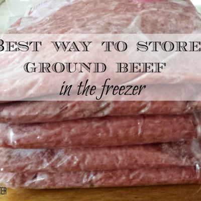 The best way to store ground beef in the freezer. Buy a large package of beef and need to store all of it? This is the best way to do it. www.salvagesisterandmister.com