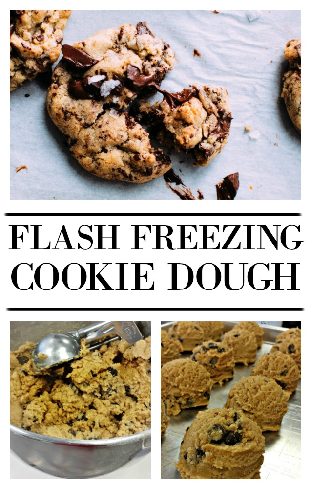 If you need a quick dessert or just a cookie for one, flash freezing cookie dough allows you to make a huge batch of dough and have it on hand for whenever you need a treat. this kitchen tip is great way to wast less. Find the information on this at salvagesisterandmister.com (frugal kitchen)