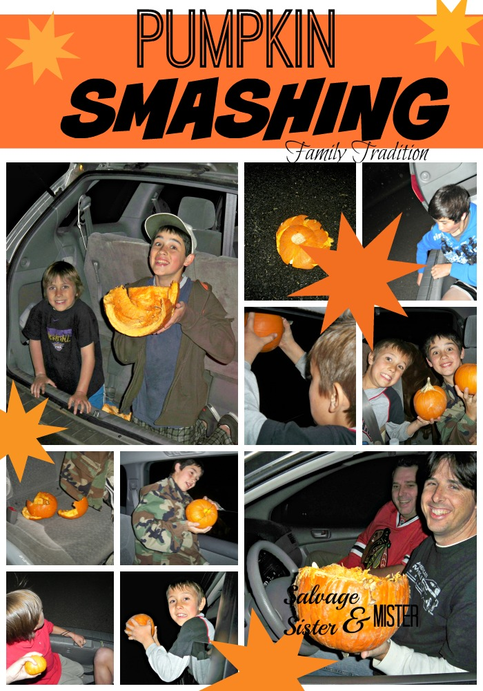 Goodbye Fall, Hello Christmas. A family tradition. Kids love to smash their pumpkins to ring in the start of a new season...Holiday season. Who wouldn't want to smash their pumpkins? Family time. Family friendly. Fun for all ages. Kid approved.