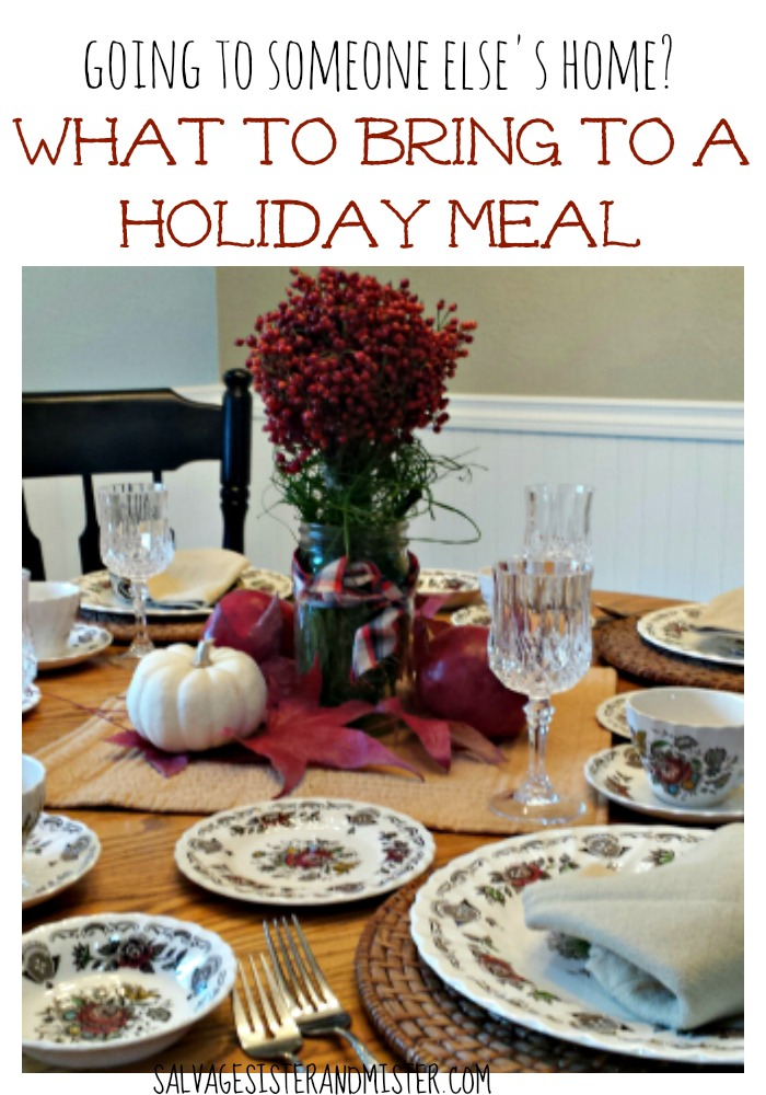 If you are going to someone else's home for a holiday meal you will want to read what to bring to a holiday meal. Not every hostess will want you to bring your favorite recipe.