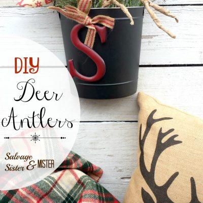 Paper Deer Antlers Display