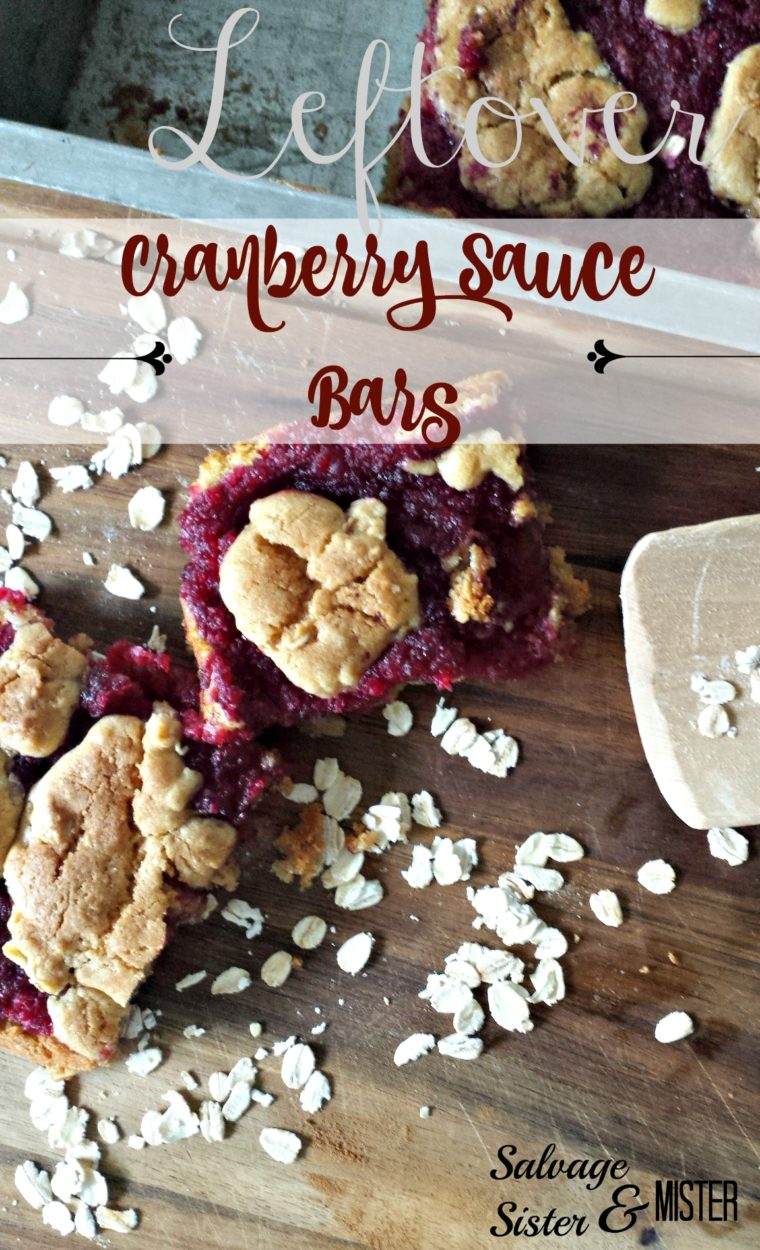 Have leftover cranberry sauce, or jam?  These super simple leftover cranberry sauce bars are made with pantry ingredients, including a box cake mix.  Quick recipe and a tasty treat.  Perfect for your holiday baking needs.