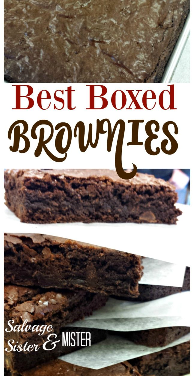 Homemade is always great, but sometimes you need a quick dessert. These are the best boxed brownies we have found. This is not only the product we use but HOW we do them for the best results. Great for the freezer to grab for guests or for the lunch box.