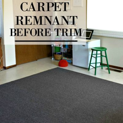 turning a carpet remnant into an area rug on salvagesisterandmister.com