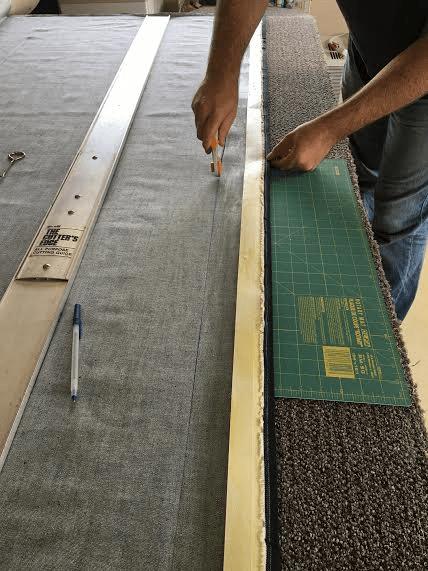 carpet remnant into rug