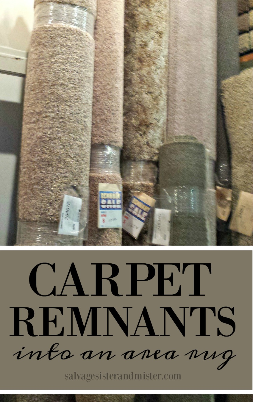 turning a carpet remnant into an area rug - salvaagesisterandmister.com (budget home decor)