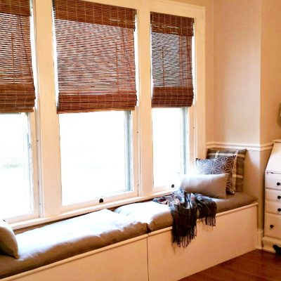 Window seat or window bench makeover. This DIy budget makeover from Instagram fried Pennies from Heaven Home is a great example that you can make the most with what you got.
