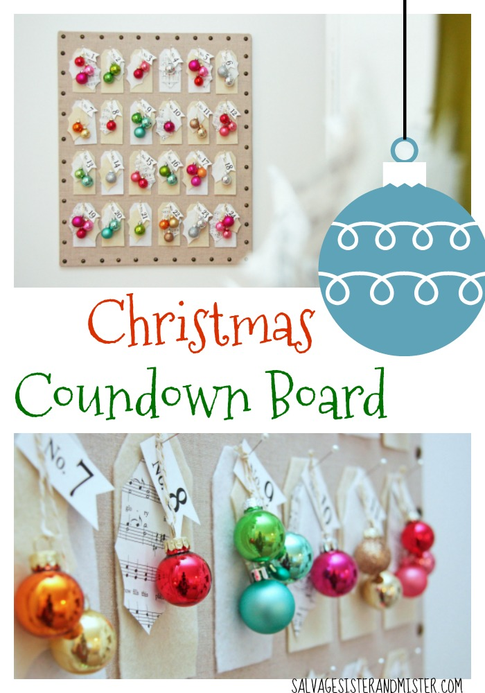 You can make this Christmas countdown board in one evening. Simple DIY project. Great to reuse or use up items you have in your craft room and customize it to your decor. A fun craft to do with friends or at a holiday party. Full tutorial on the blog. This is an #ssmfeatureme project.