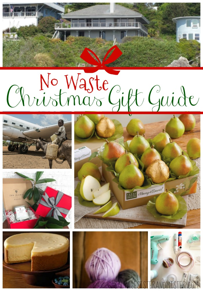 Want to spend less and waste less this Christmas? Here is a no waste (low waste) Christmas gift guide. Whether you are trying to use less resources (green living) or you are on a budget. these gifts are great to take up less space, help others, and have a more simple Christmas. Simple Living gifts. Products or ideas people will actually want to get. No Waste Christmas Gift Guide.