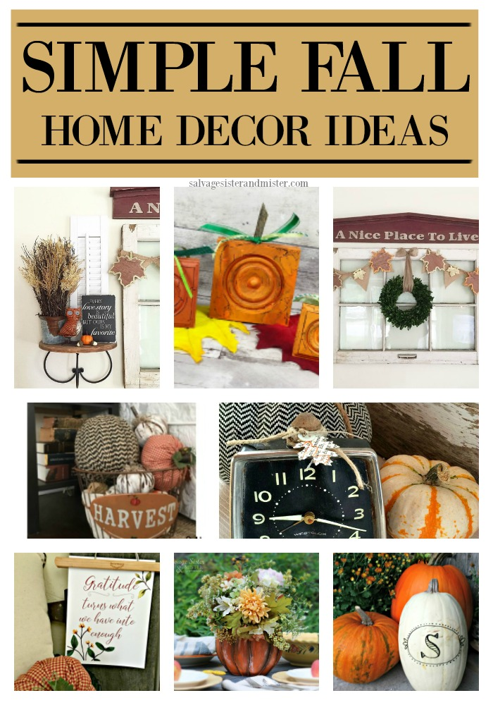 Using items ou have, items from nature, upcycle or repurposed, thrift store finds, and more to make fall home decor simple and inexpensive.  Get these craft and diy projects and tips at salvagesisterandmister.com