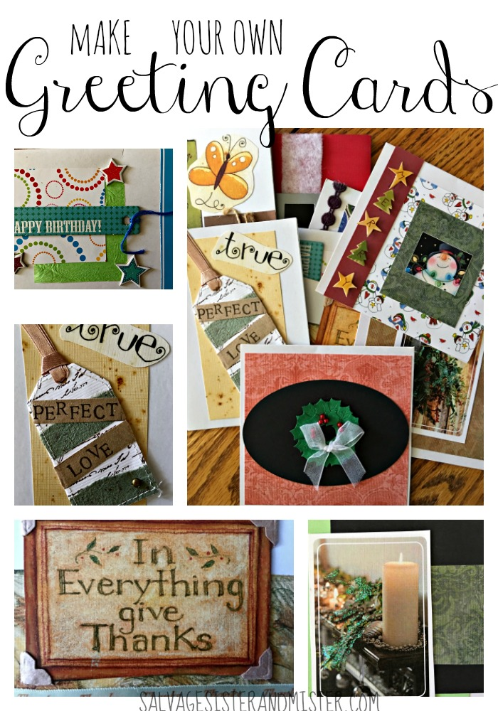 How to make your own greeting cards using leftover cards and calendars. A great way to use up leftover items as well as reduce the cost of purchasing cards. An easy DIY /Craft project you can do with friends or your kids. Reuse to eliminate waste..