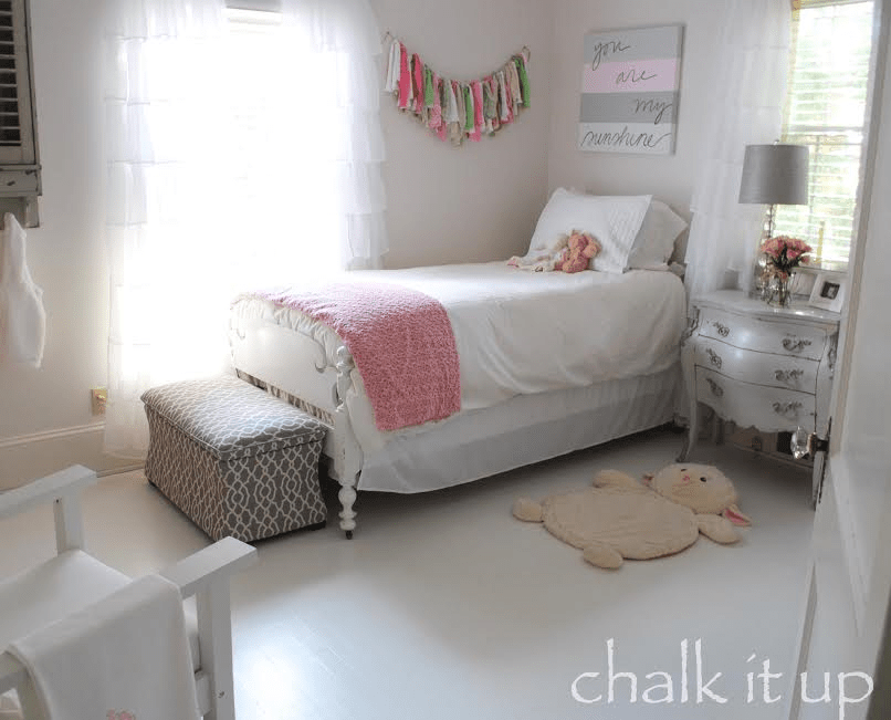 Chalk it up painted floors tutorial. This is a great way to have farmhouse style floors on a budget. Much cheaper than replacing floors. This DIY project is from an expert furniture painter.