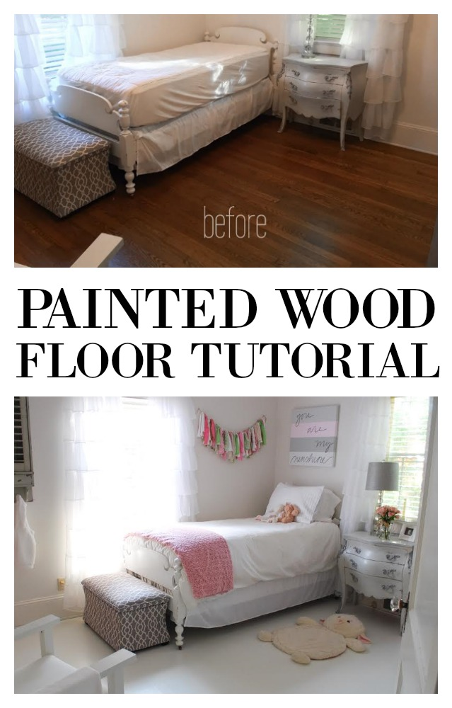 Want an inexpensive room makeover? Did you know you can paint floors? Here is a DIY tutorial on how to paint wood floors. Not everyone may want to paint floors but i you do, this tested method is for you. Get this home improvement project on salvagesisterandmister.com (featured on) budget friendly