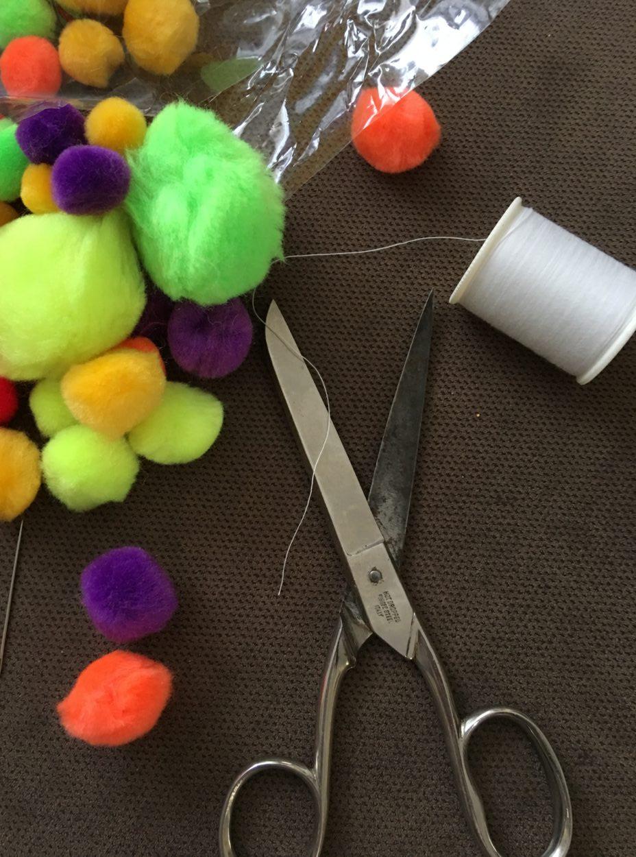 craft pom pom garland 3