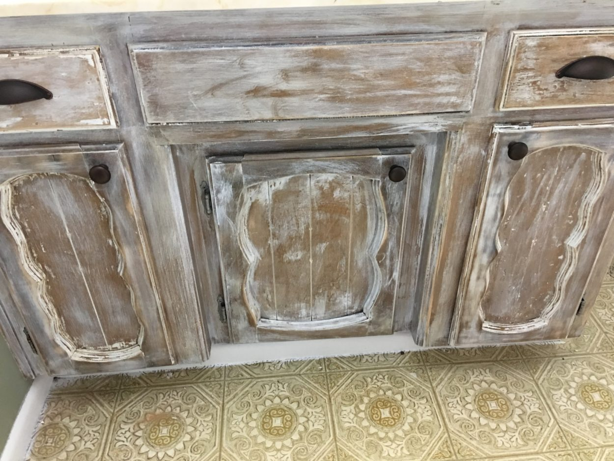 rustic bathroom cabinet 1