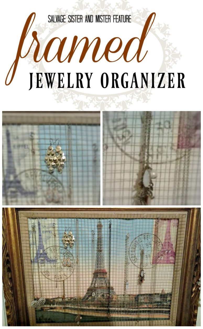 Old frames are easy to find at thrift stores or around your home. There are lots of upccyle projects you can do including this, framed jewlery organizer. This is a simple DIY project that will get your jewlery organized in no time. Perfect for a teen room. Change out the picture to match any decor.