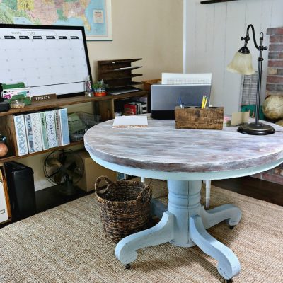 Budget home office for the one room challenge. This room was completed with DIY, thrifted, and upcycled items.