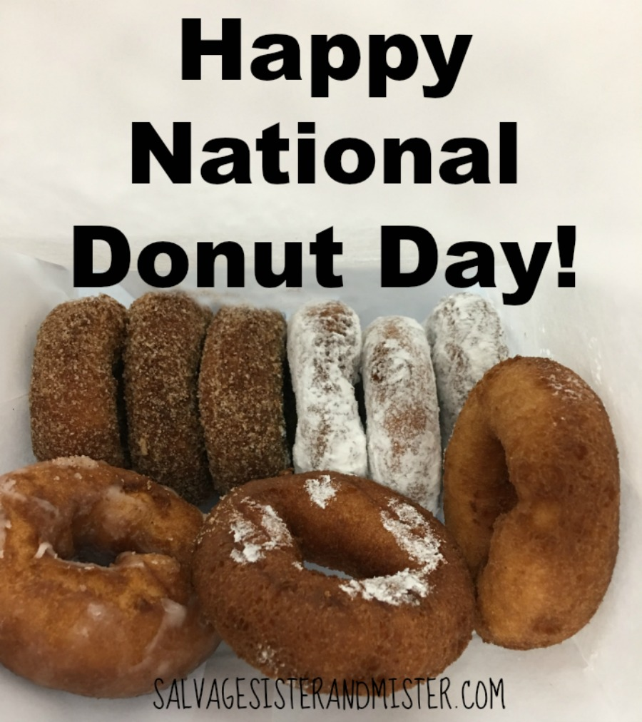 June 1st in National Donut Day! What is your favorite donut? How about celebrating with apple caramel donut bread pudding muffins.