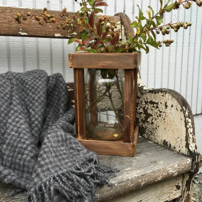 Thrifted Faux French Demijohn in Crate with a thrifted find