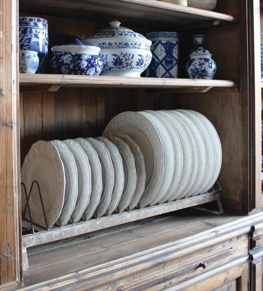 Hambyhomedecor chicken feeder trough plate rack farmhouse style.