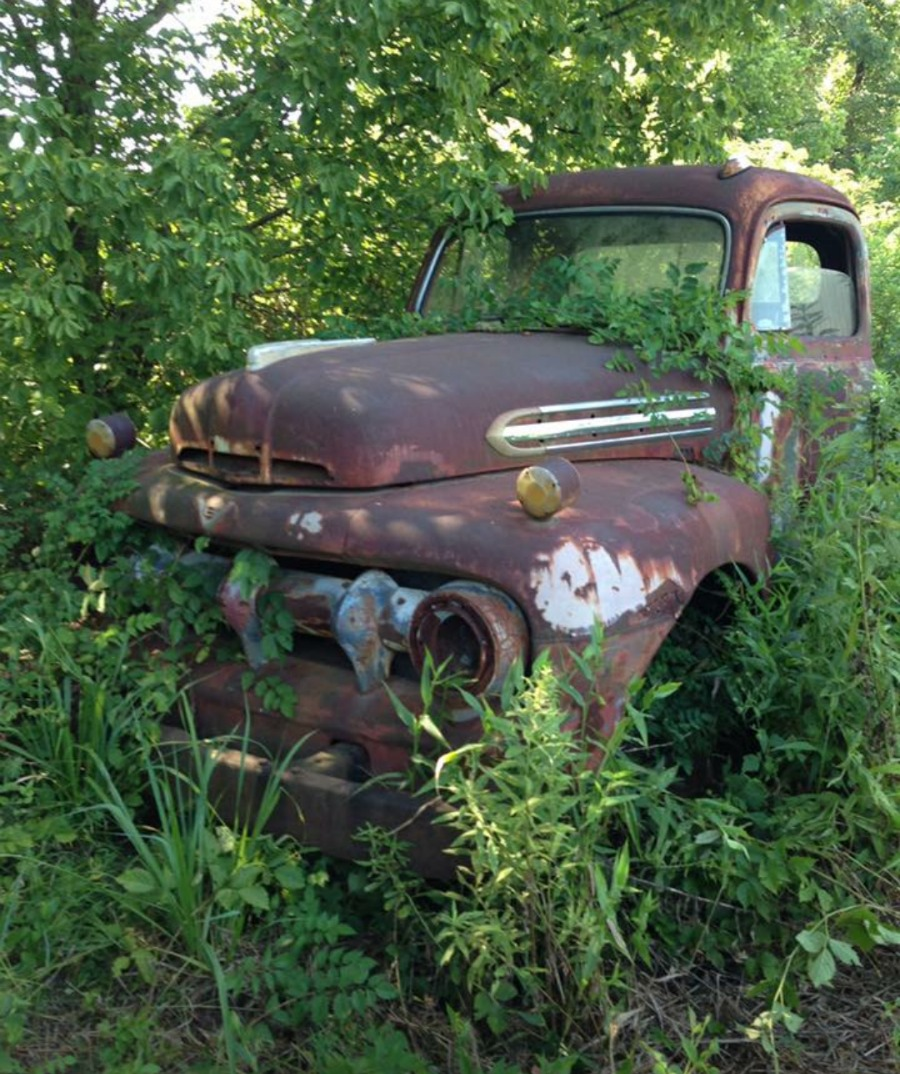 Vintage Truck Water Feature...before