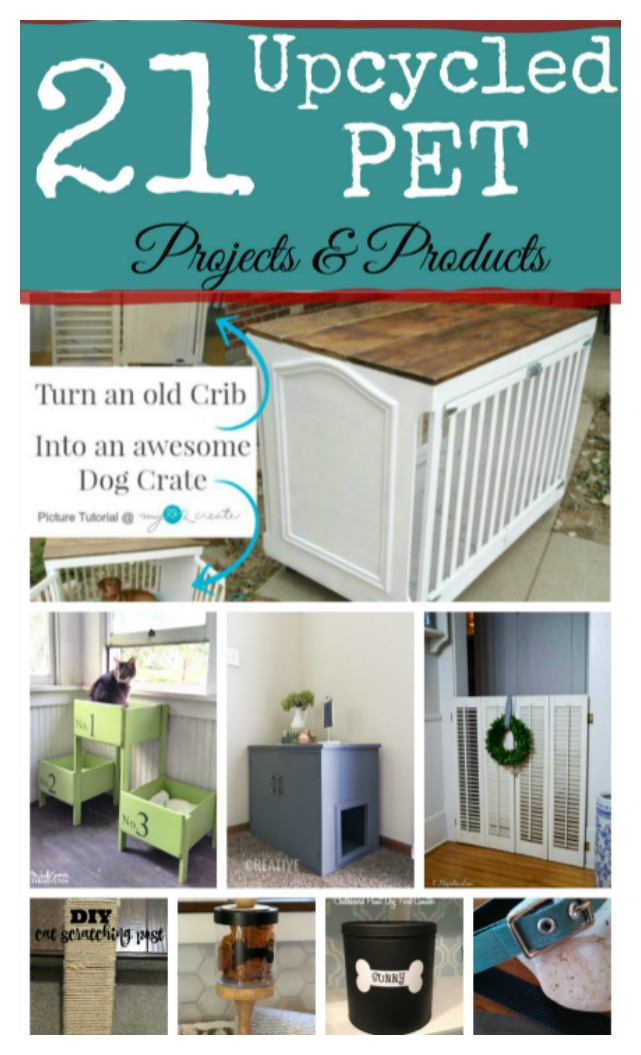 Whether you want to save money, go gree, reuse what you have, or make your animal feel like a kind or queen, these 21 pet projects and products are puurfect.  Creative reuses for everyday stuff. Cover up that litter box, create a pet door, make a dog bed, a place for their treats, and/or some super tough dog toys.  Get these ideas over at salvagesisterandmister.com