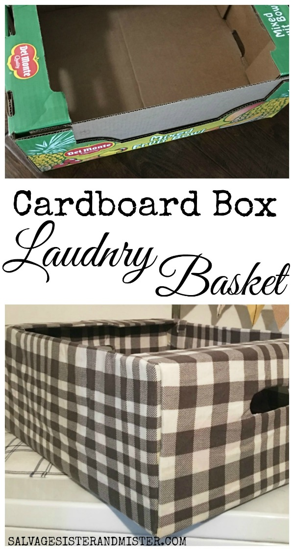 We used a Costco box and repurposed it into a laundry basket.  This inexpensive box fairly simple to make and ended up costing nothing since we had material on hand.  This diy shares the tutorial on how to make plus other upcycle cardboard project and uses.  Get the details of this budget-friendly farmhouse style buffalo plaid basket on salvagesisterandmister.com where we hope to waste not, want not