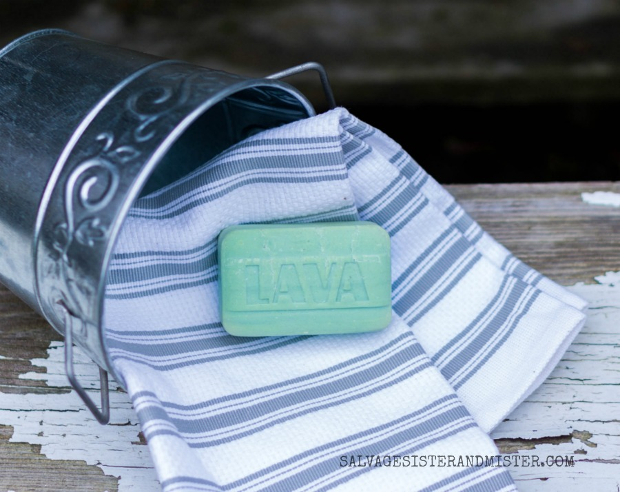 Lava soap is a DIY'ers best friend. The pumice helps get all sorts of paint, dirt, glue, and product off your hands.