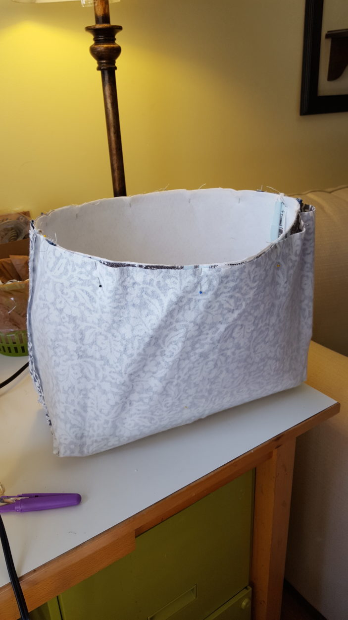 Lining - Repeat the steps for the outer basket without the interfacing.