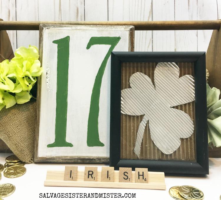 Thrift Store St Patrick's Day Sign No. 17 #diy #stpatricksday #craft