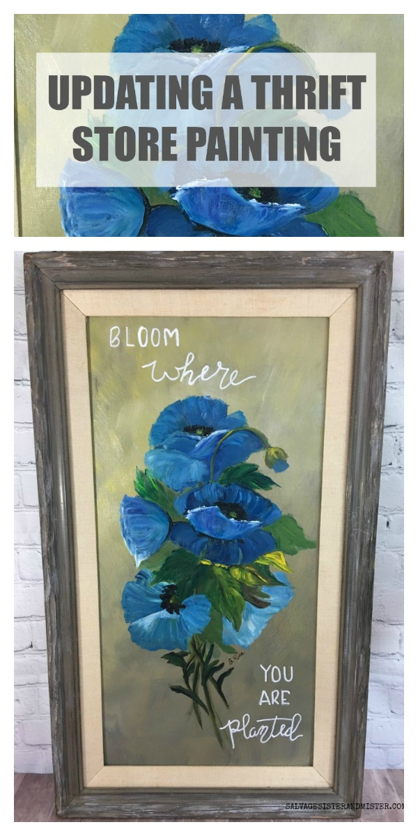 EASY DIY - Painting a thrift store painting is a quick home decor transformation to an old item #diy #update #thriftstore